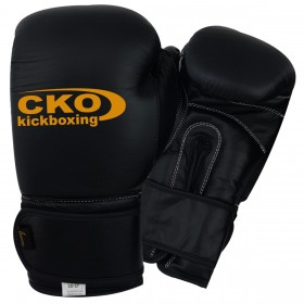 CKO Training Boxing Gloves Vinyl #2120 BLK