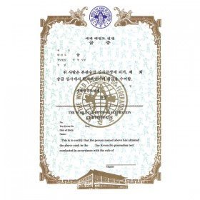 Rank Certificate {Taekwondo)