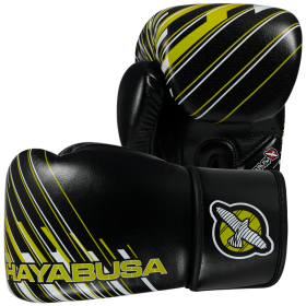 Ikusa Charged 14oz Gloves - Black/Lime Green