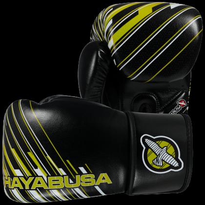 Ikusa Charged 14oz Gloves - Black/Lime Green