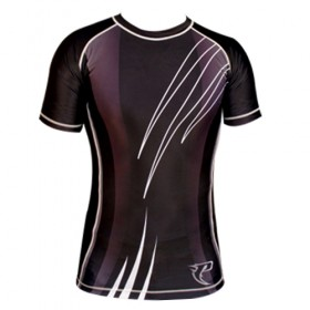 Sublimated Rash Guard Black # PRS-12