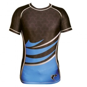 Sublimated Rash Guard Blue # PRS 11