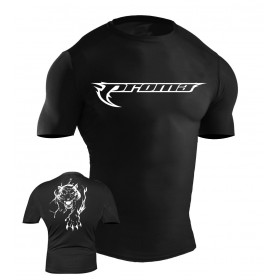 MMA Rash Guard Black #6025-L