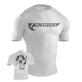 MMA Rash Guard White #6026-L