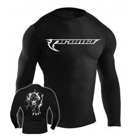 MMA Rash Guard Black #6015-L