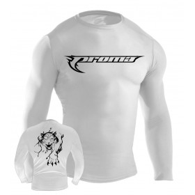 MMA Rash Guard White #6016-L
