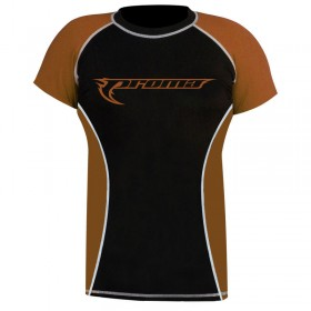 Rank Rashguards Half Sleeve Brown/Black