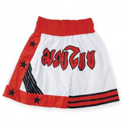 White/Red Thai Short #3020