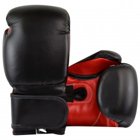 Boxing Gloves Black Red