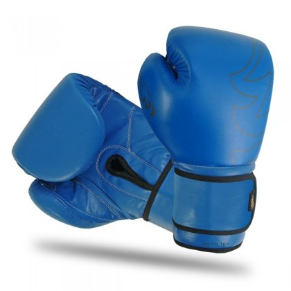 Boxing Gloves With Strap Blue