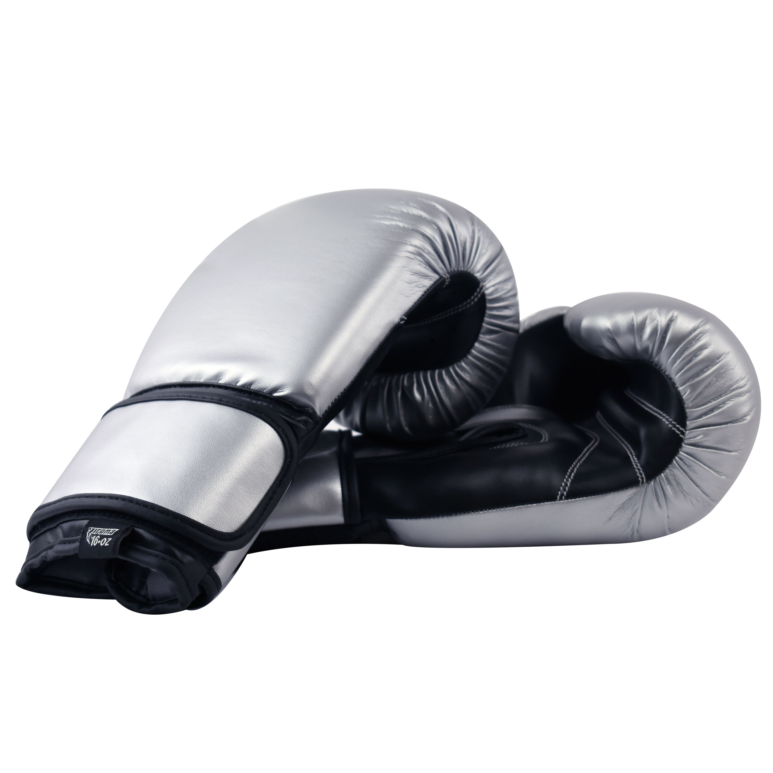 Essential Boxing Gloves Silver Black