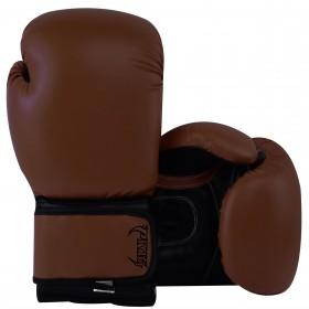 Kids Boxing Gloves Dark Brown Black