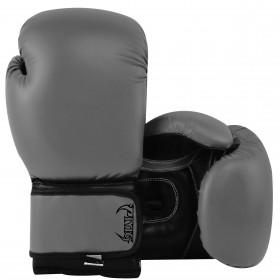 Kids Boxing Gloves Grey Black