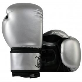 Kids Boxing Gloves Silver Black