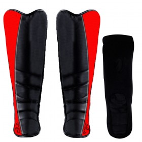 Shin Instep Leather Black / Red