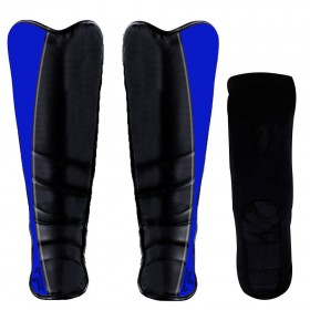 Shin Instep Leather Black / Blue