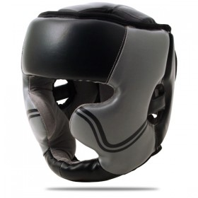 Head Guard Leather With Chin