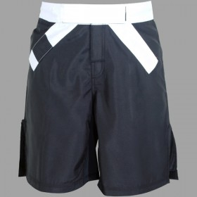MMA Rank Shorts White/Black belt