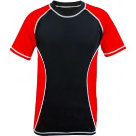 Rank Rashguards Half Sleeve Red