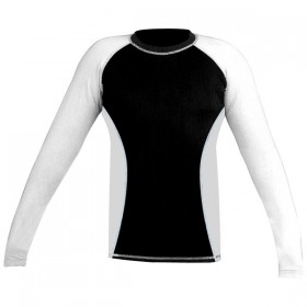 Rank Rashguards full sleeve White/ Black