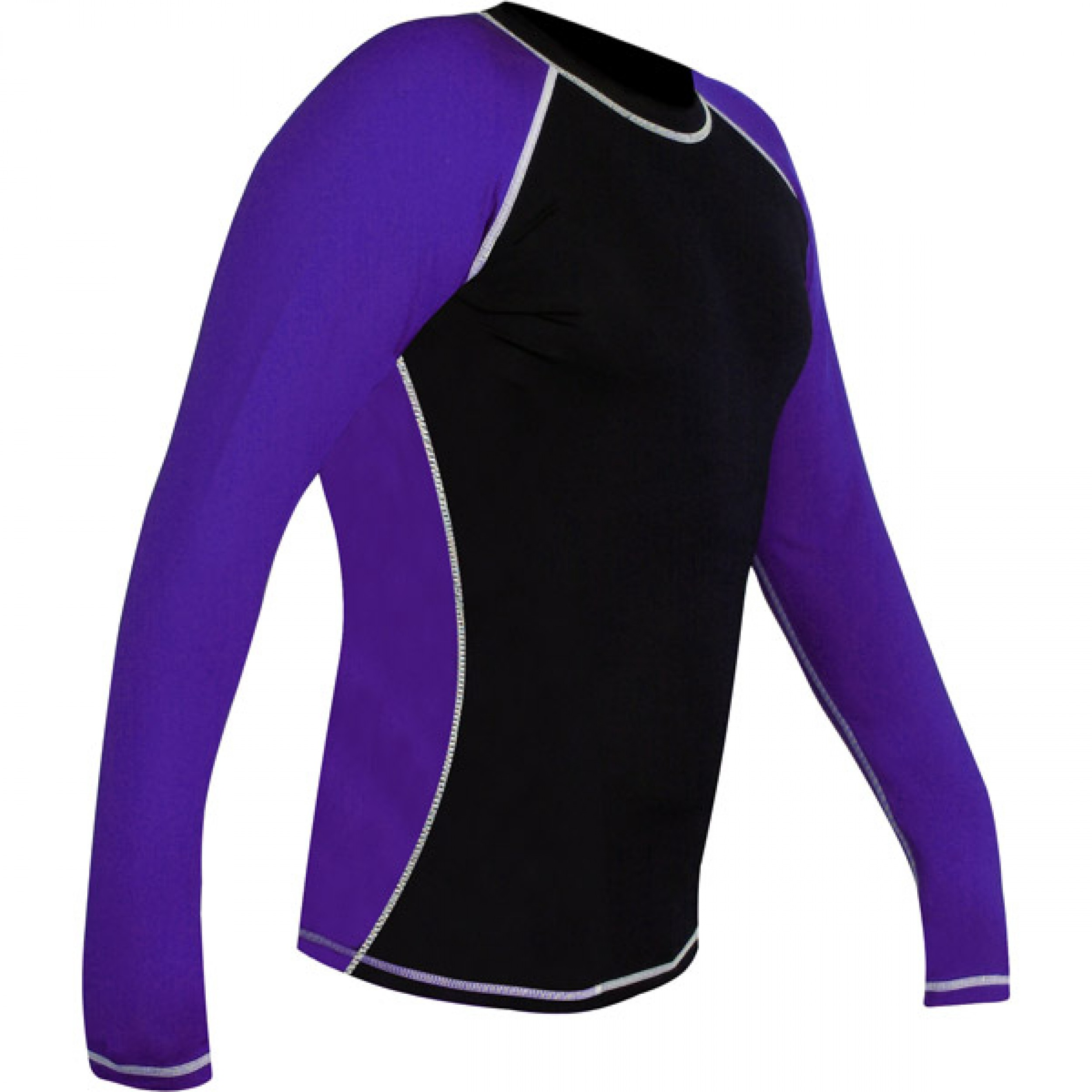 Rank Rashguards full sleeve Black Purple