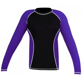 Rank Rashguards full sleeve Black Purple