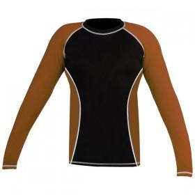 Rank Rashguards full sleeve Brown/ Black