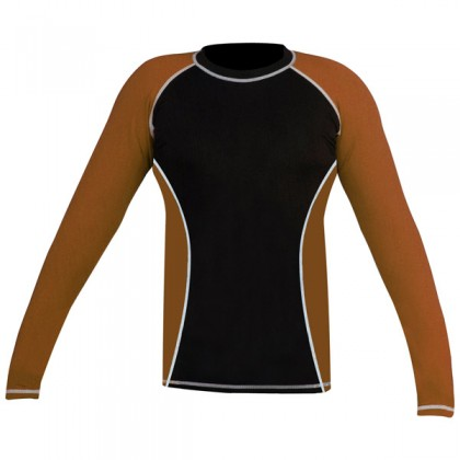 Rank Rashguards full sleeve Brown/ Black