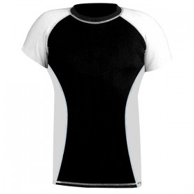 Rank Rashguards Half Sleeve White/Black