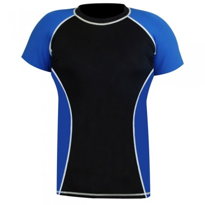 Rank Rashguards Half sleeve Blue/Black