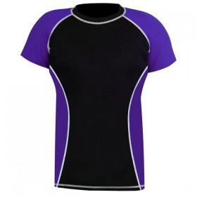 Rank Rashguards Half Sleeve Purple/Black