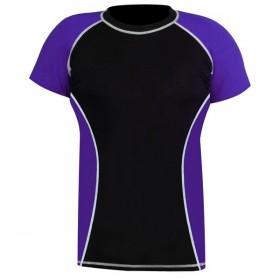 Rank Rashguards Half Sleeve Purple/Black