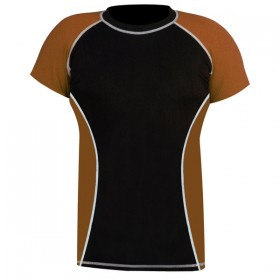 Rank Rashguards Half Sleeve Brown/Black