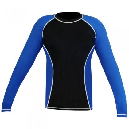 Rank Rashguards full sleeve Blue/ Black