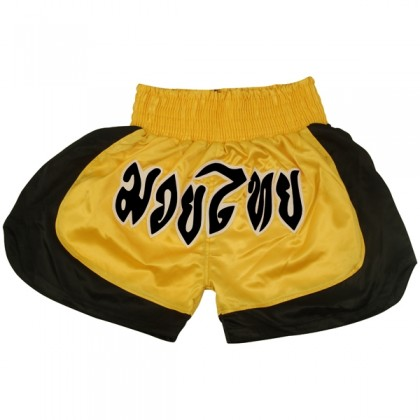 Thai Shorts Yellow/Black