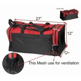 Sports Bag Red/Black #3446
