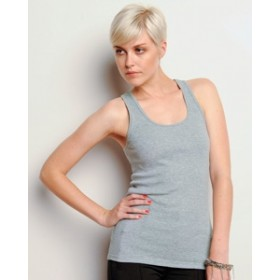 #B4070 Bella Ladies 5.8 oz., 2x1 Rib Racerback Longer-Length Tank