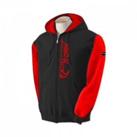 Two Tone Zipper Hoody Blk/Red-L
