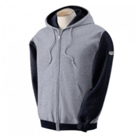 Two Tone Zipper Hoody Blk/Gry