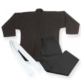 Middle Weight Uniform Black 9.5-Oz #1220