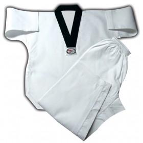 White uniforms Black V-neck